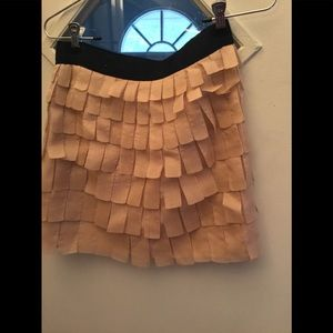 100% silk mini skirt ( peach)
